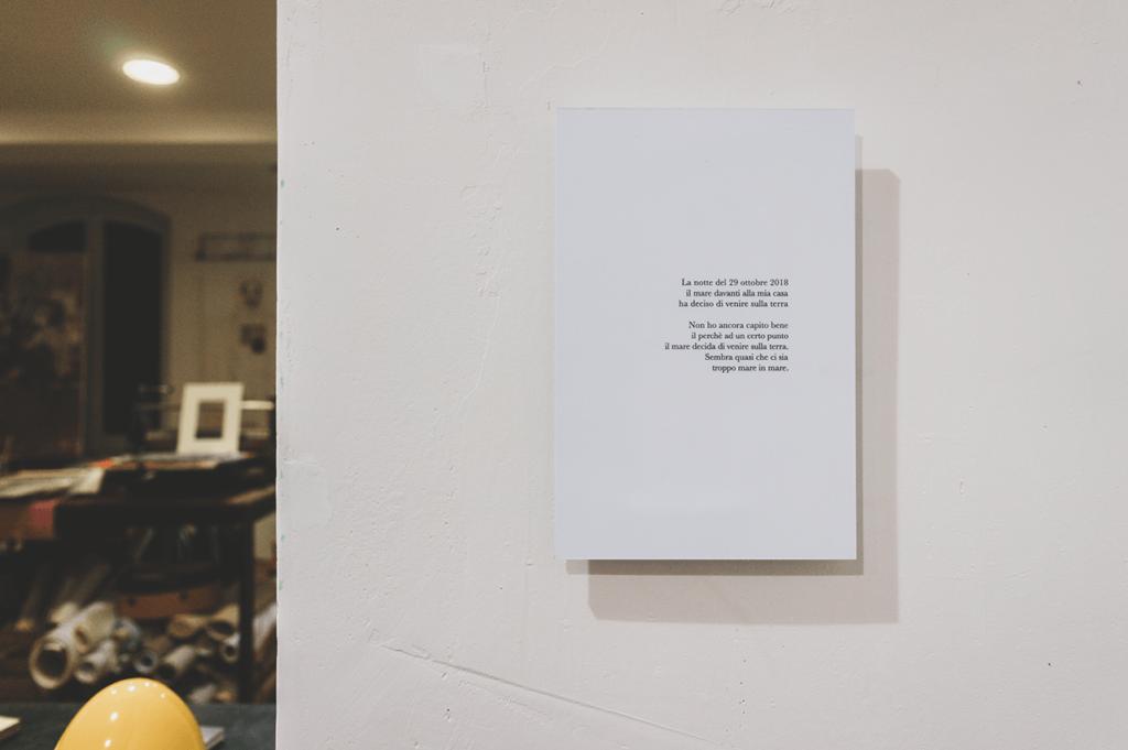 poesia descrizione della mostra se il mare viene sulla terra, scattate durante il periodo di alluvioni che hanno colpito la liguria