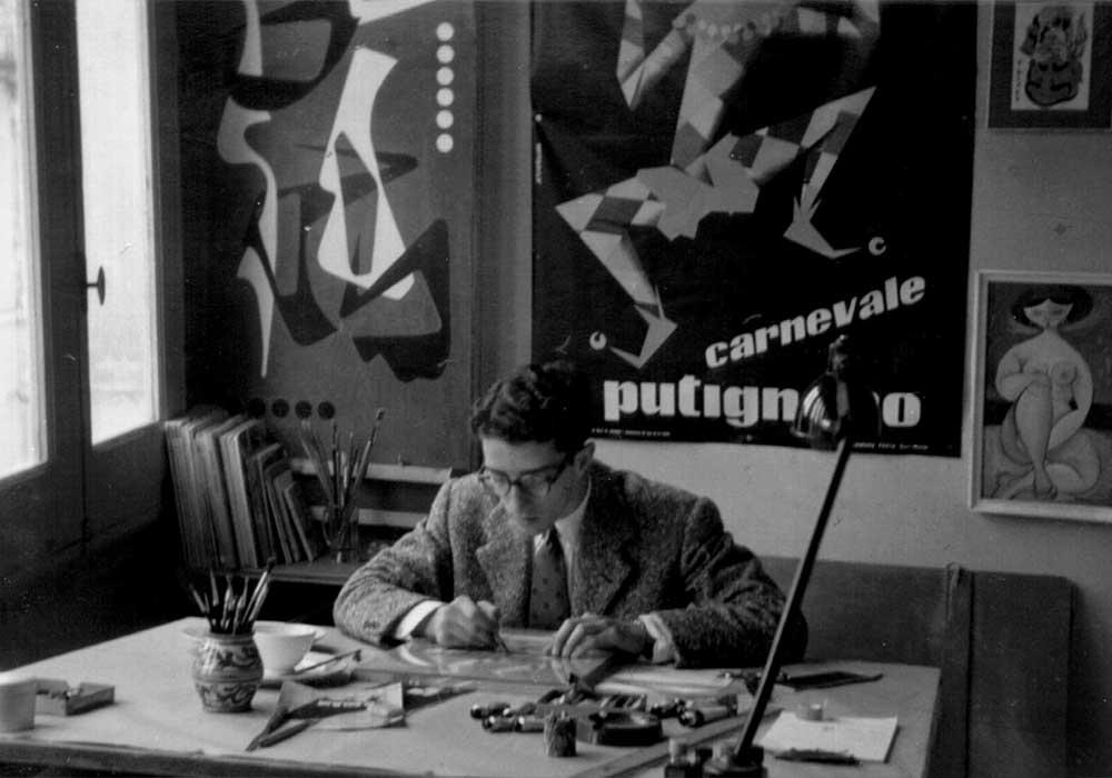 L'immagine contiene una porzione del di un poster di Mimmo Castellano