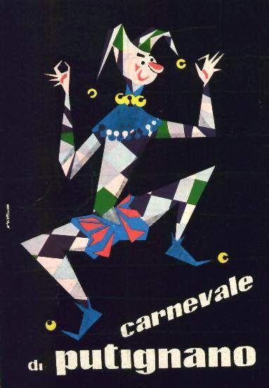 Manifesto di Favinella che rappresenta la maschera